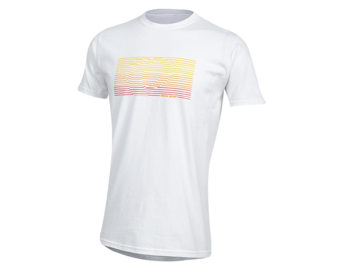 Pearl Izumi Organic Cotton T-Shirt (Lines Logo White) (XL)
