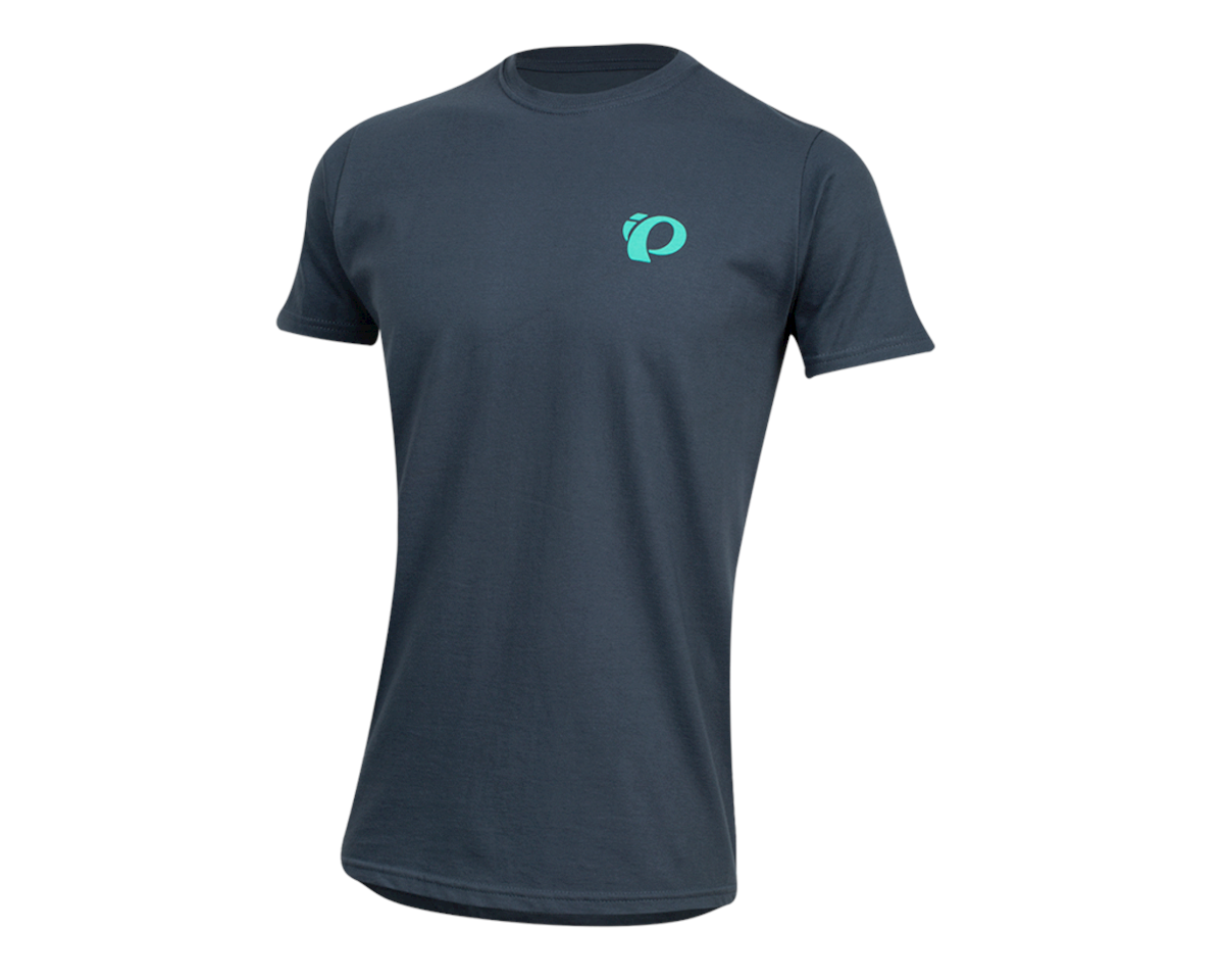 Pearl Izumi Organic Cotton T-Shirt (Sunset Wheel Navy) (L)