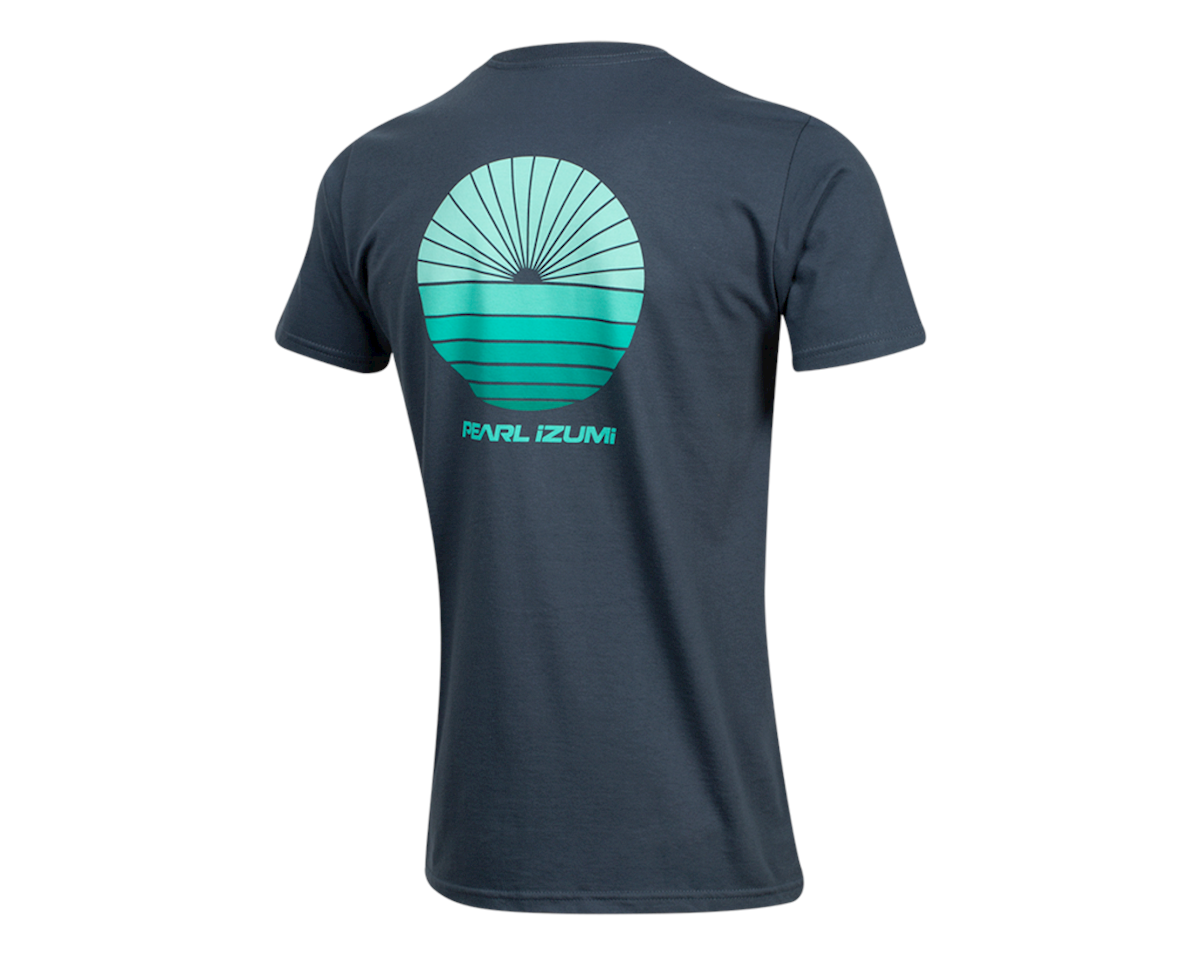 Pearl Izumi Organic Cotton T-Shirt (Sunset Wheel Navy) (M)
