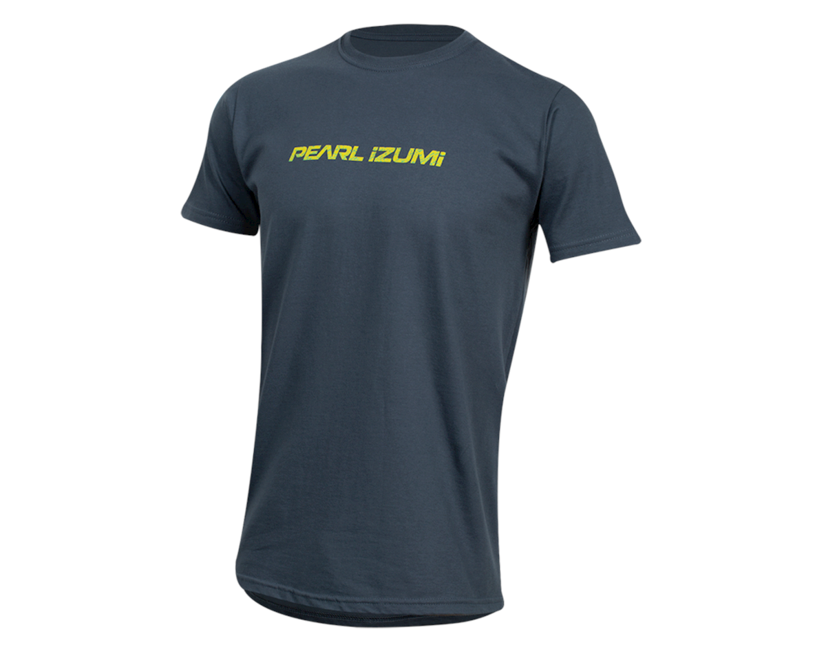 Pearl Izumi Organic Cotton T-Shirt (Linear Logo Navy) (XL)
