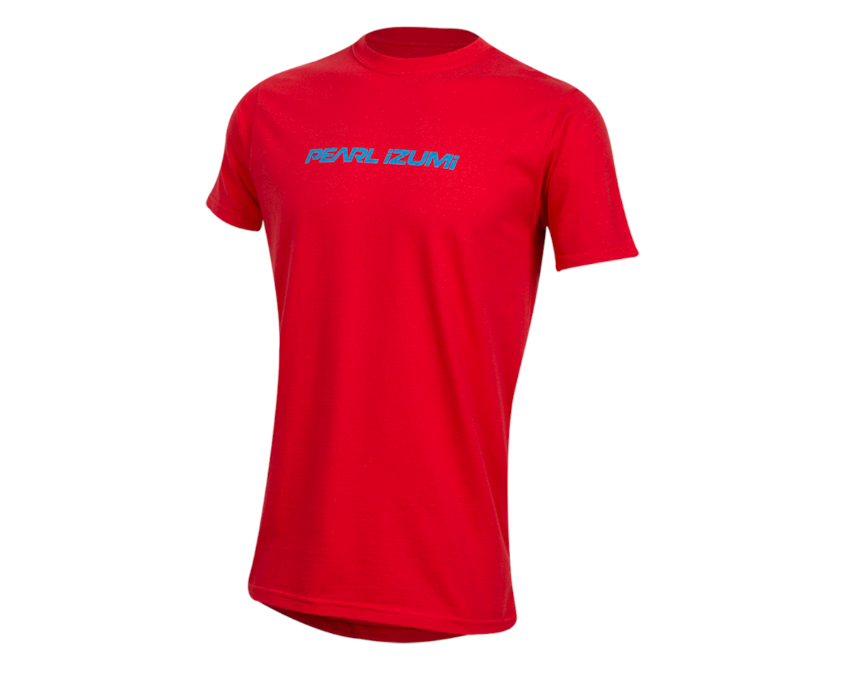 Pearl Izumi Organic Cotton T-Shirt (Linear Logo Red) (L)