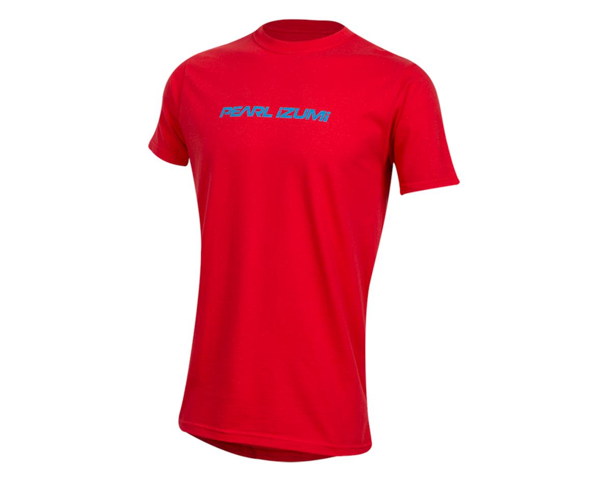 Pearl Izumi Organic Cotton T-Shirt (Linear Logo Red) (S)
