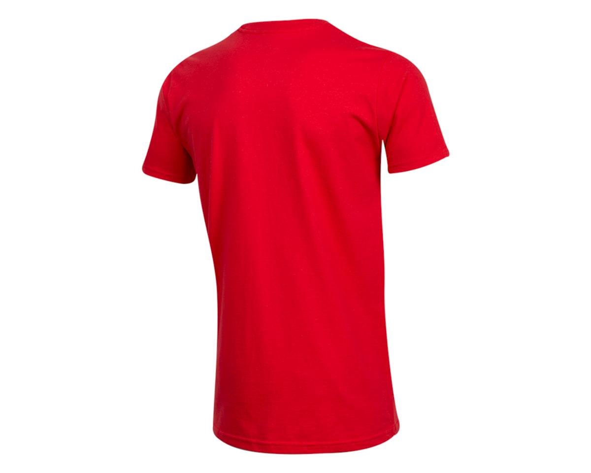 Pearl Izumi Organic Cotton T-Shirt (Linear Logo Red) (2XL)