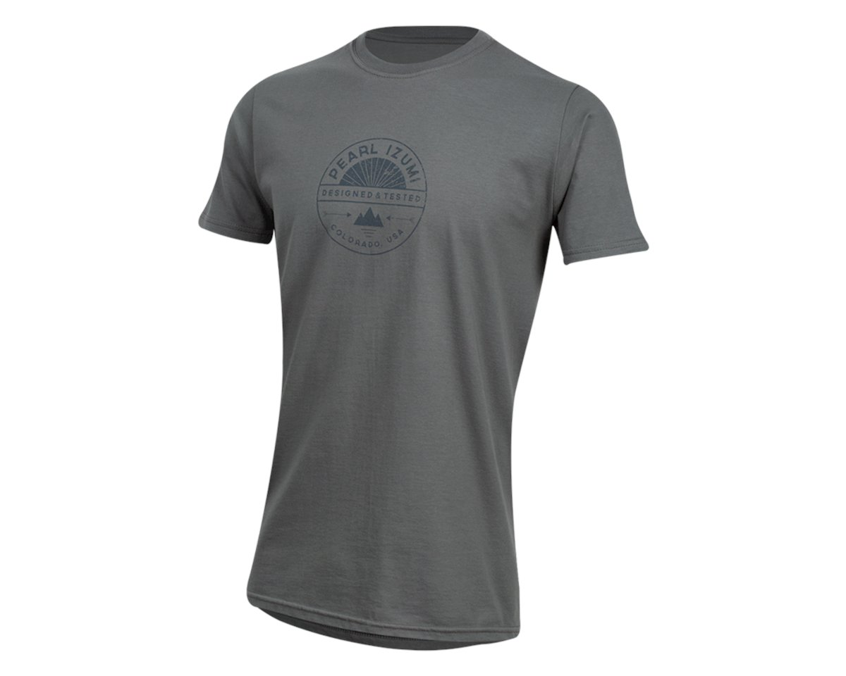 Pearl Izumi Organic Cotton T-Shirt (Stamp Charcoal) (L)