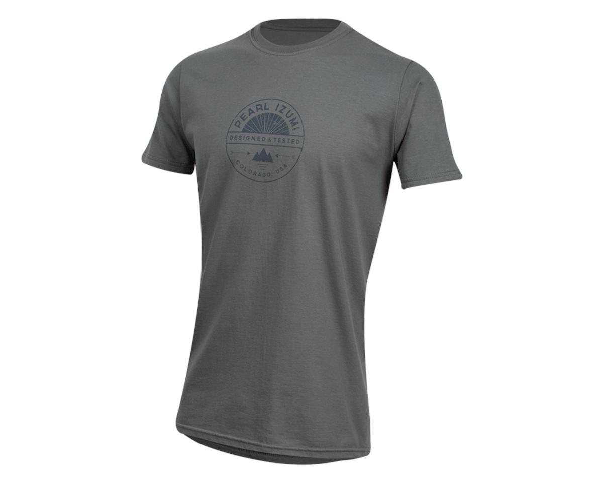 Pearl Izumi Organic Cotton T-Shirt (Stamp Charcoal) (M)