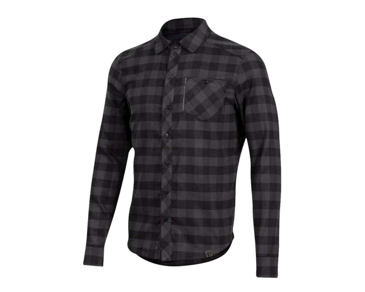 Pearl Izumi Rove Longsleeve Shirt (Black/Phantom Plaid) (L)