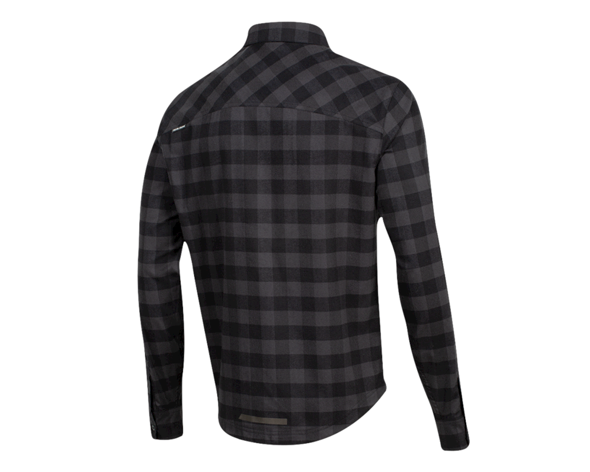 Image 2 for Pearl Izumi Rove Longsleeve Shirt (Black/Phantom Plaid) (M)