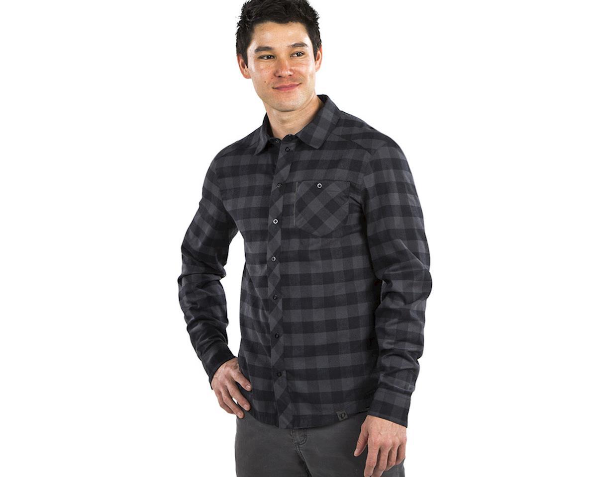 Pearl Izumi Rove Longsleeve Shirt (Black/Phantom Plaid) (S)