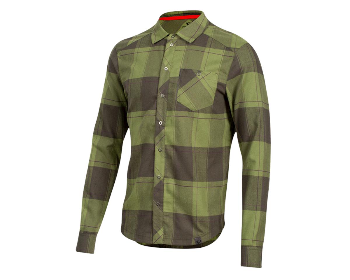 Pearl Izumi Rove Longsleeve Shirt (Forest/Willow Plaid) (L)
