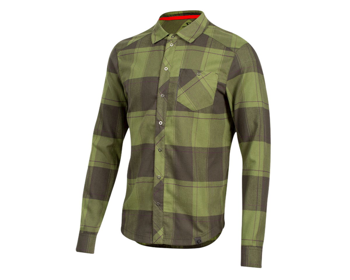 Pearl Izumi Rove Longsleeve Shirt (Forest/Willow Plaid) (M)