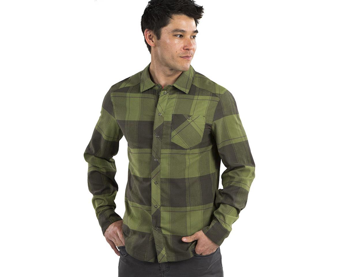 Pearl Izumi Rove Longsleeve Shirt (Forest/Willow Plaid) (XL)