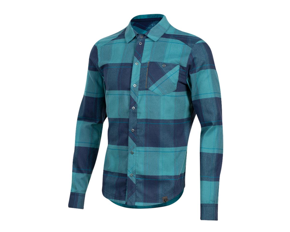 Pearl Izumi Rove Longsleeve Shirt (Navy/Hydro Plaid) (L)