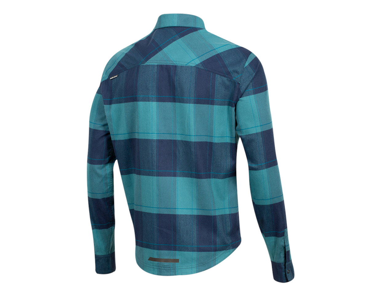 Image 2 for Pearl Izumi Rove Longsleeve Shirt (Navy/Hydro Plaid) (L)
