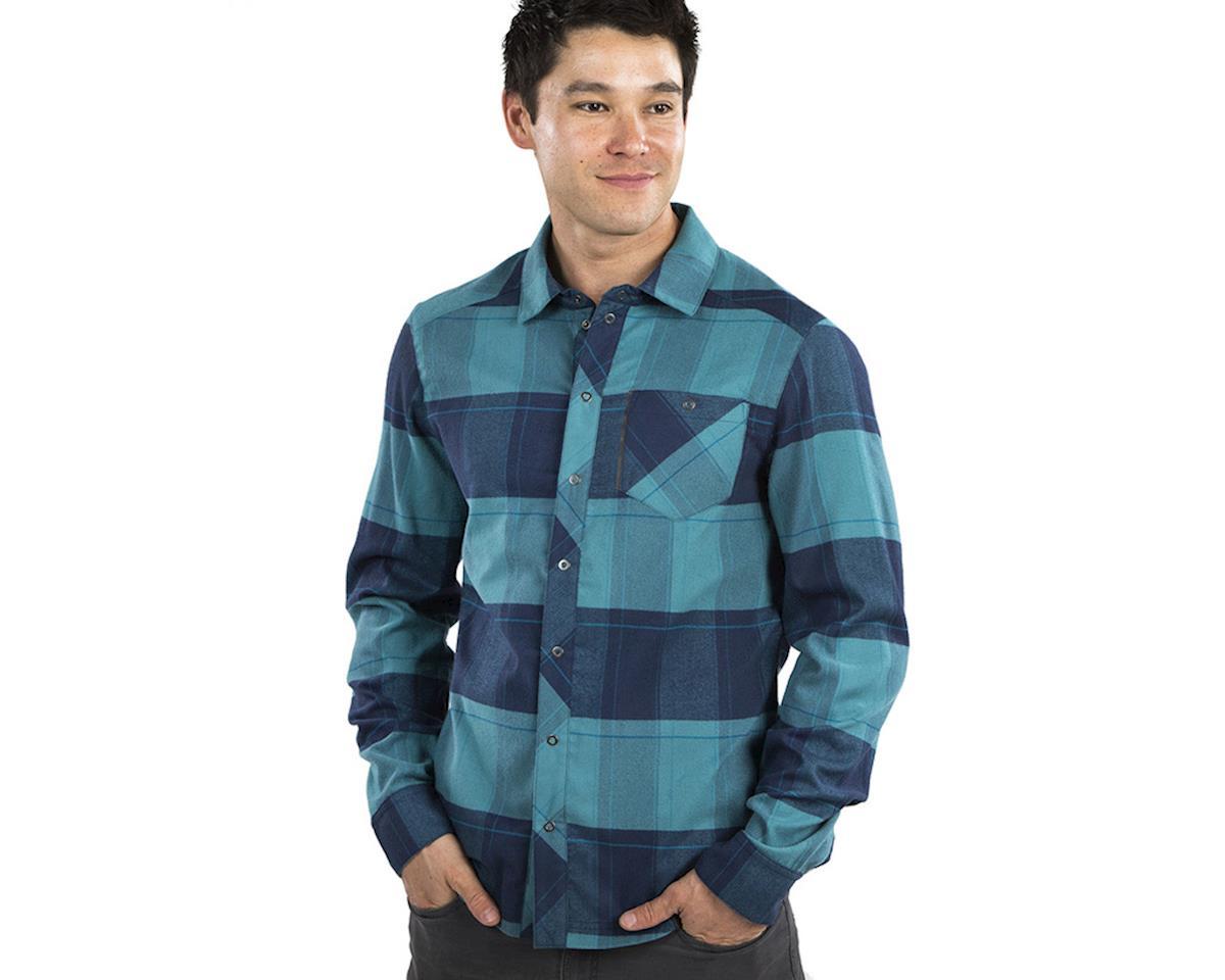 Image 3 for Pearl Izumi Rove Longsleeve Shirt (Navy/Hydro Plaid) (L)