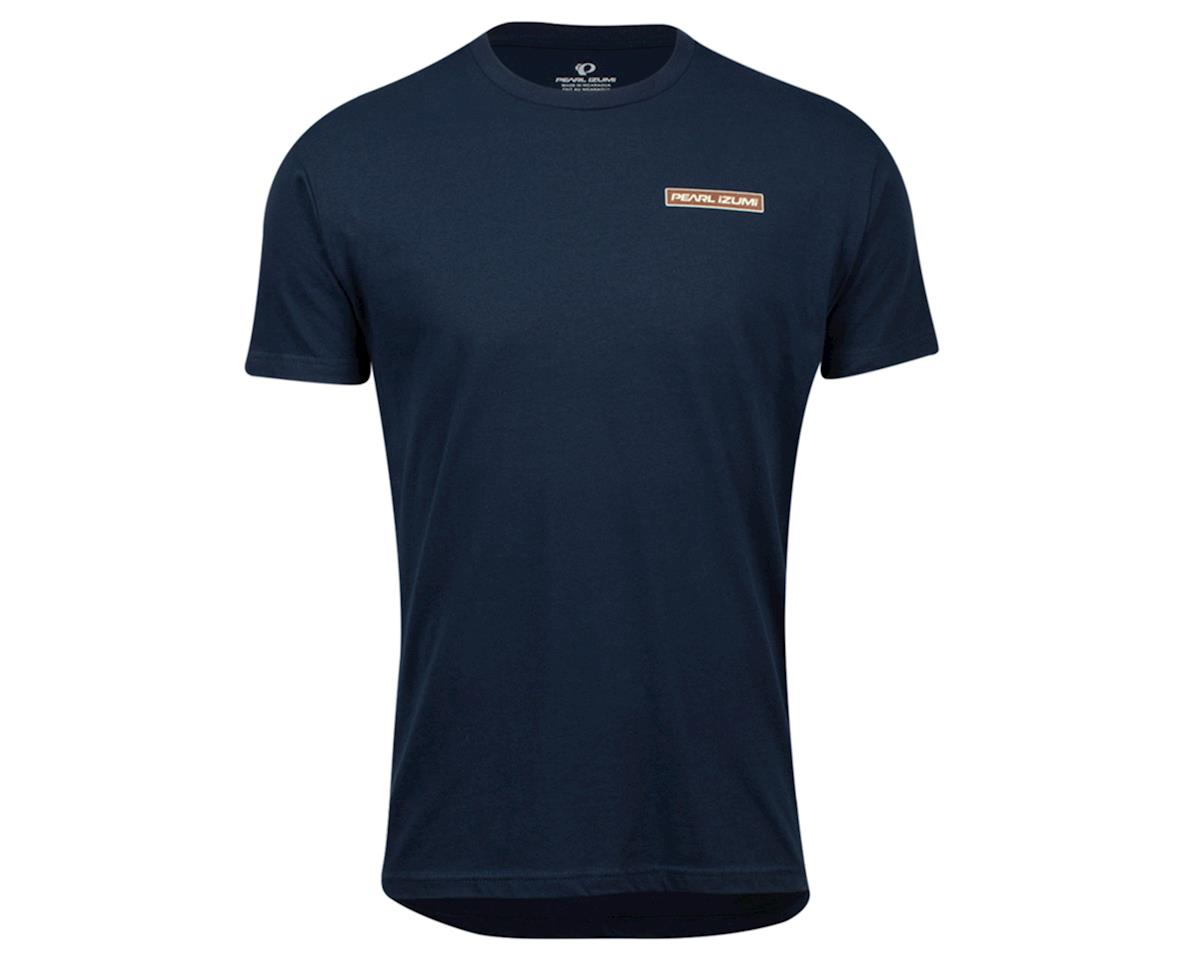Pearl Izumi Graphic T-Shirt (Midnight Navy Mountain Sun Badge) (L)