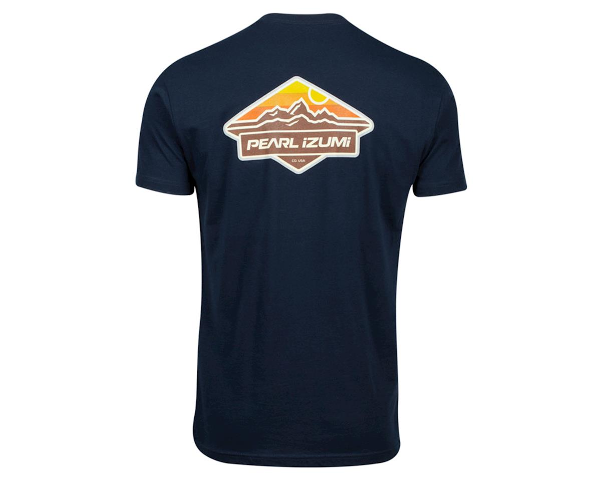 Image 2 for Pearl Izumi Graphic T-Shirt (Midnight Navy Mountain Sun Badge) (M)