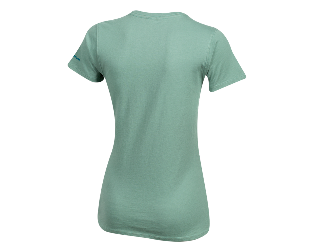 Pearl Izumi Women's Organic Cotton Crewneck T-Shirt (Bike Scene Sage) (L)