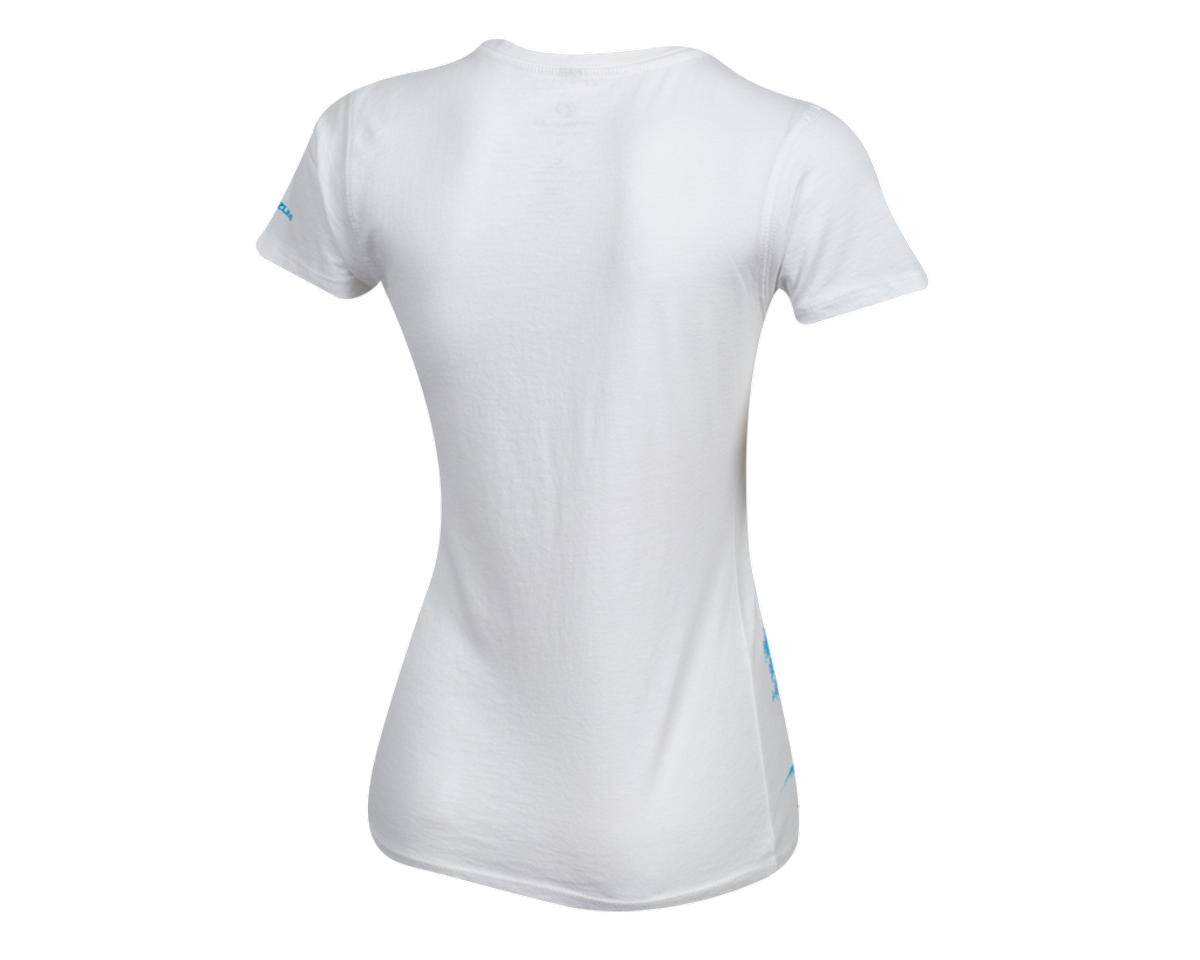 Pearl Izumi Women's Organic Cotton Crewneck T-Shirt (Bike Scene White) (L)