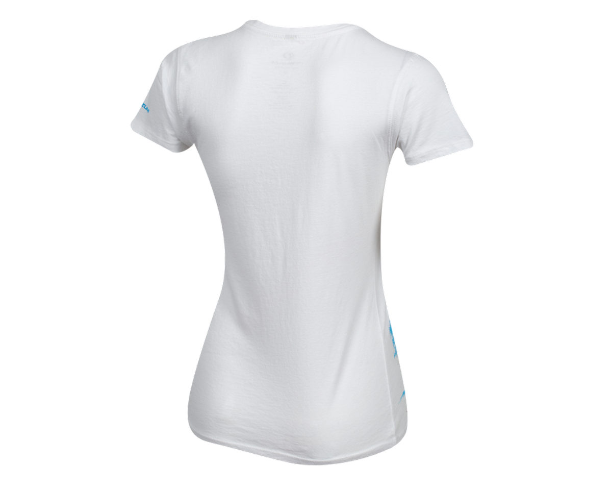 Pearl Izumi Women's Organic Cotton Crewneck T-Shirt (Bike Scene White) (XL)