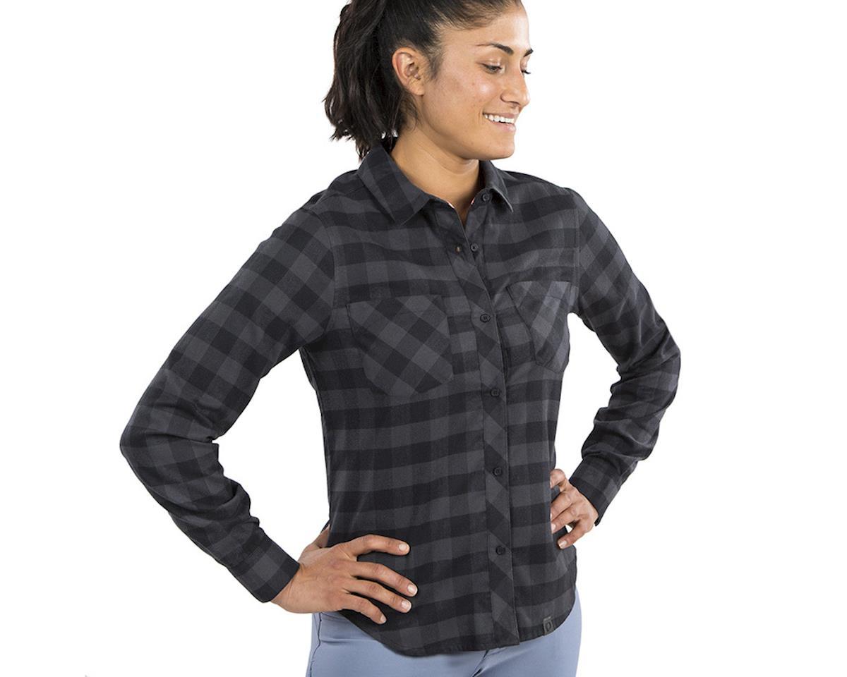 Pearl Izumi Women's Rove Longsleeve Shirt (Black/Phantom Plaid) (M)