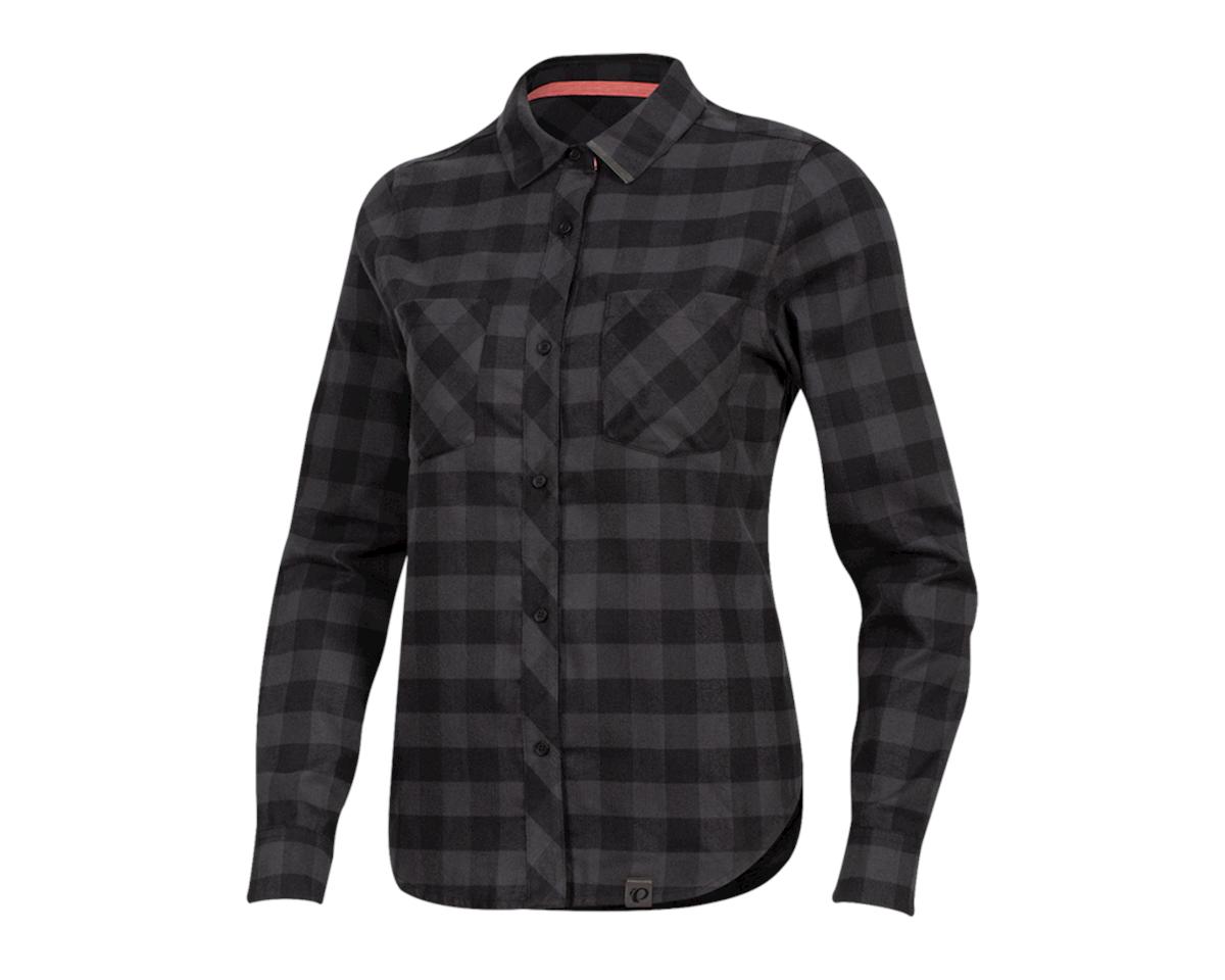 Pearl Izumi Women's Rove Longsleeve Shirt (Black/Phantom Plaid) (XS)