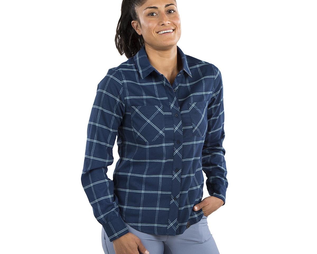 Pearl Izumi Women's Rove Longsleeve Shirt (Navy/Aquifer Plaid) (XL)