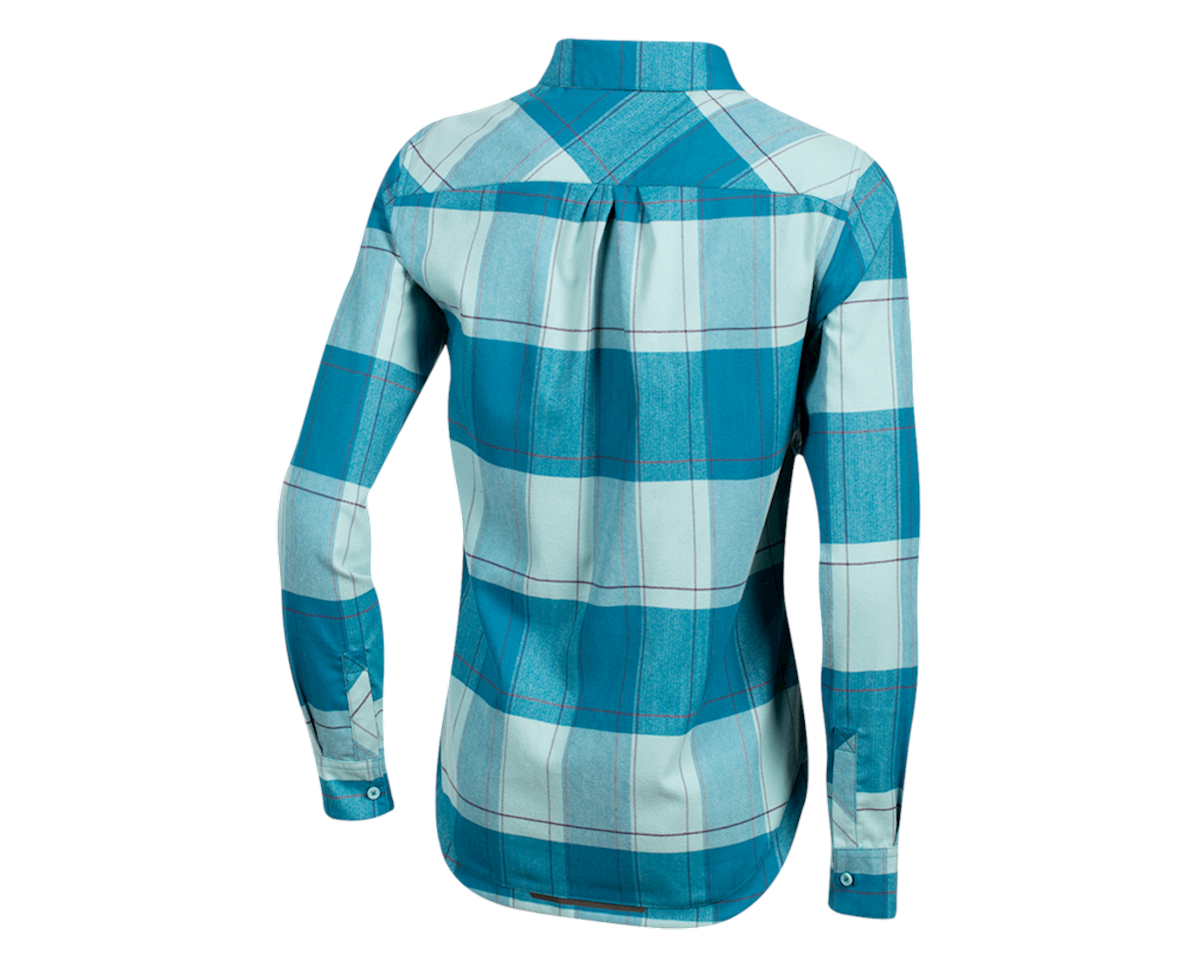 Pearl Izumi Women's Rove Long Sleeve Shirt (Teal/Aquifer Plaid) (S)