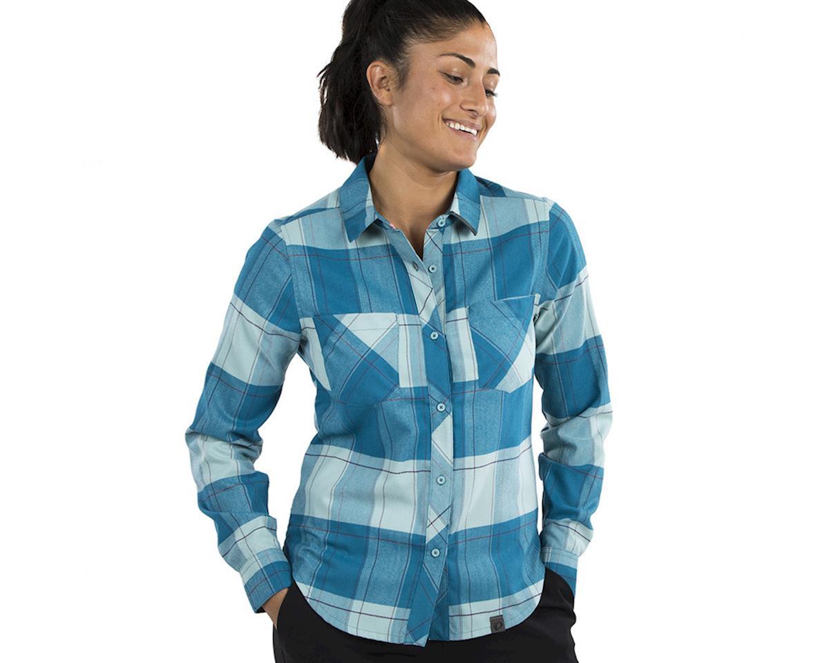 Pearl Izumi Women's Rove Long Sleeve Shirt (Teal/Aquifer Plaid) (XL)