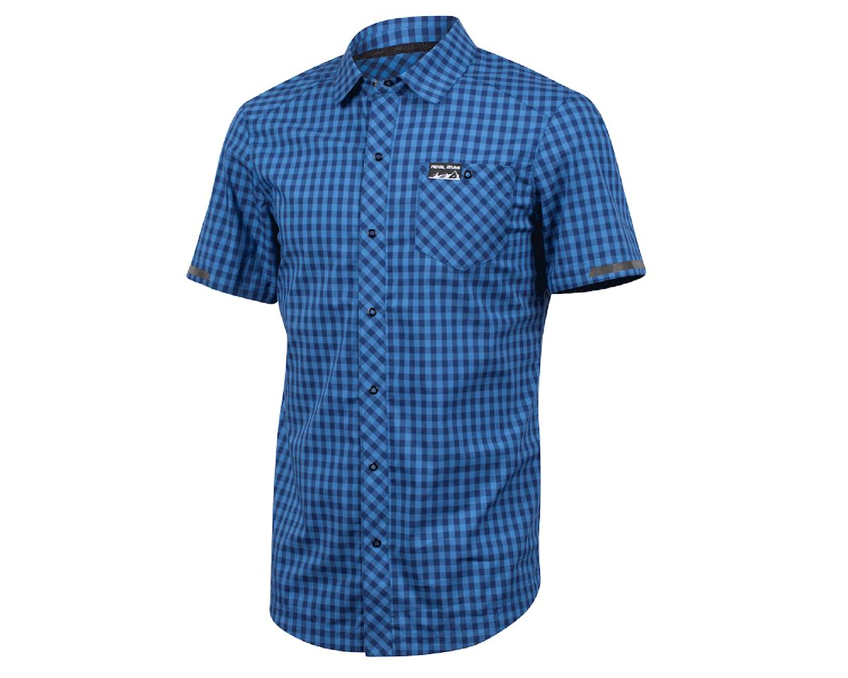 Pearl Izumi Short Sleeve Button-Up (Blue Depths) (M)