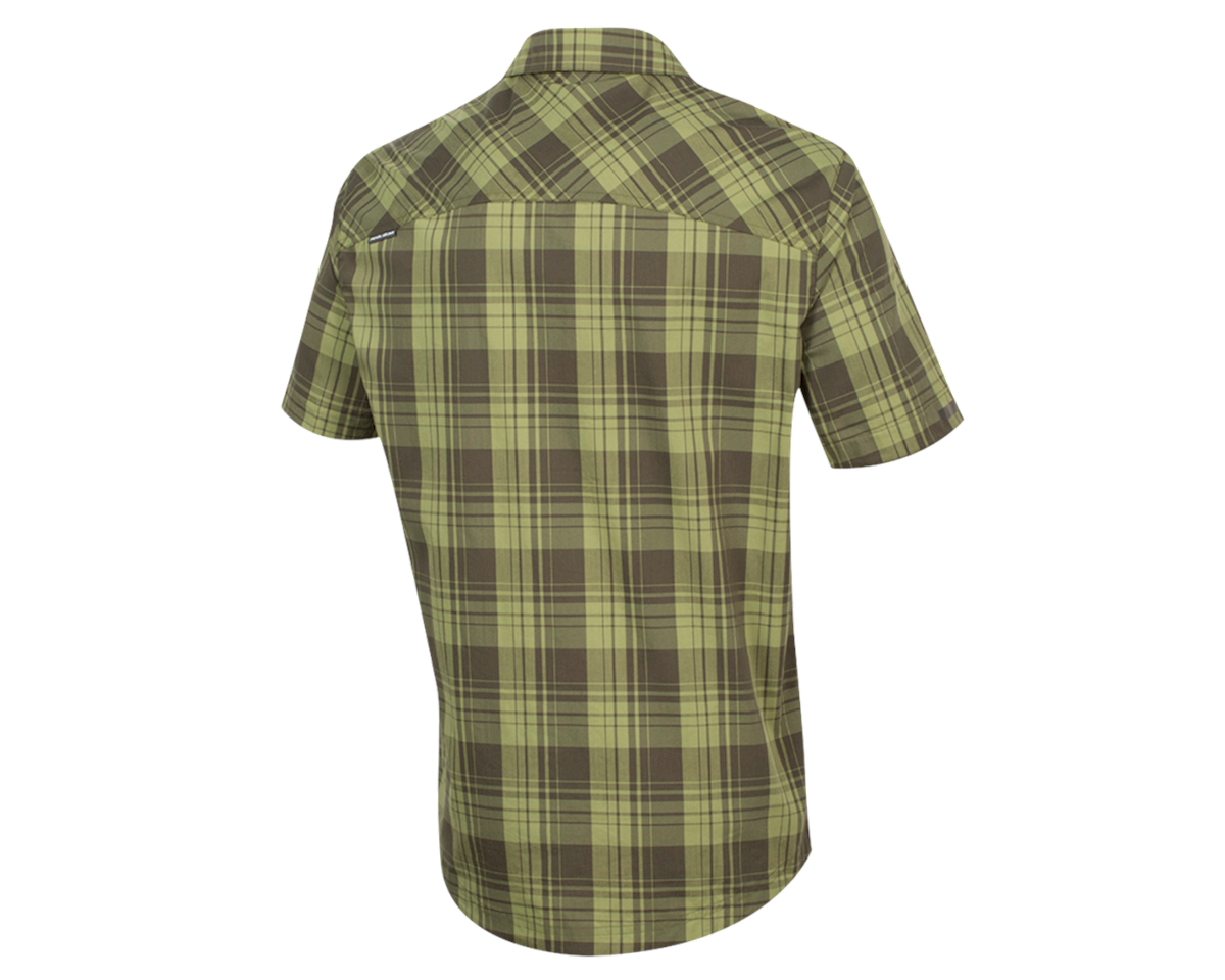 Pearl Izumi Short Sleeve Buttom-up (Forest Plaid) (L)
