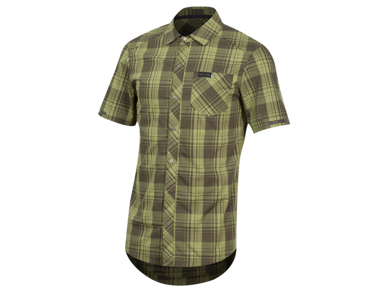 Pearl Izumi Short Sleeve Buttom-up (Forest Plaid) (XL)
