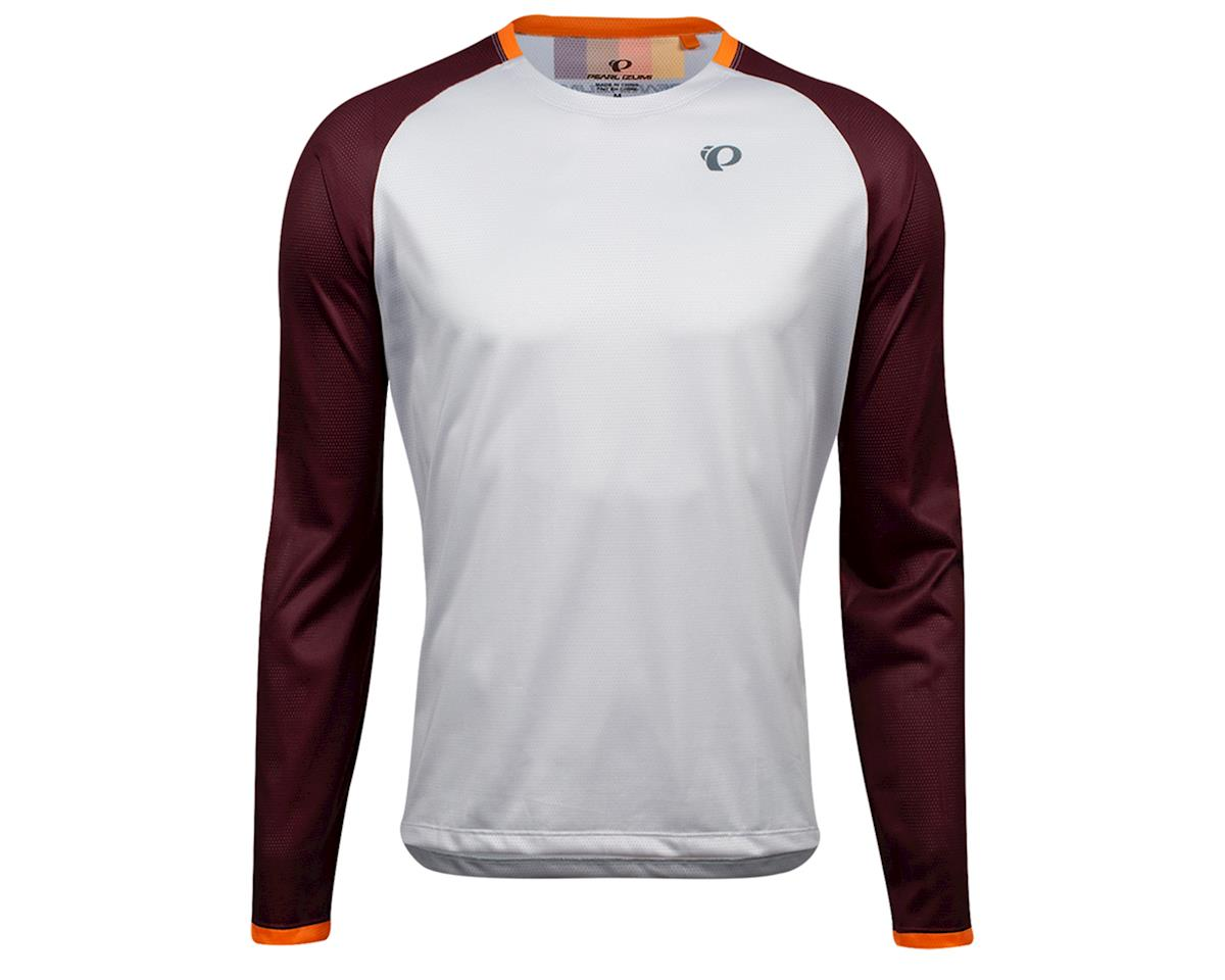 Pearl Izumi Summit Long Sleeve Top (Fog/Garnet Aspect) (L)
