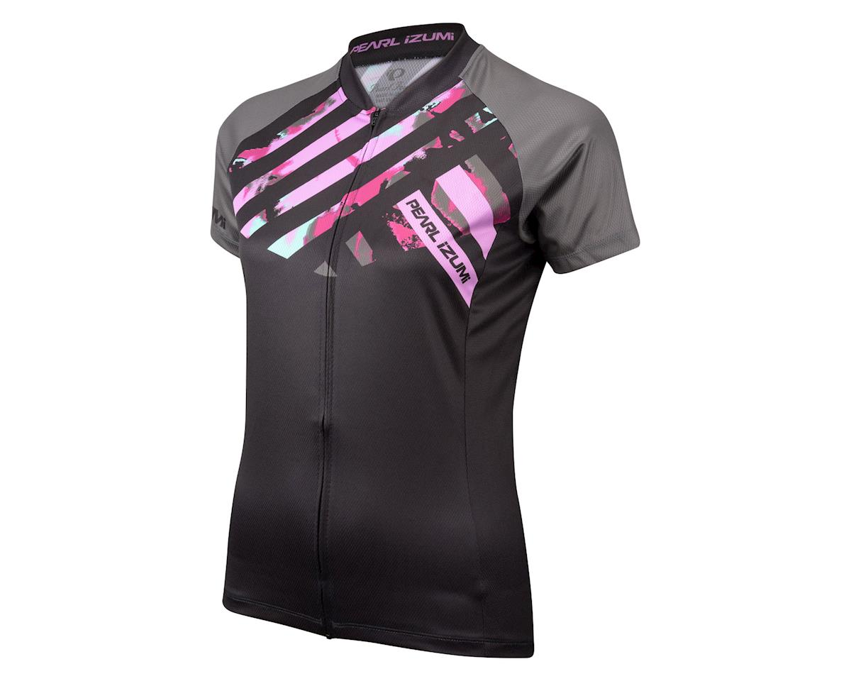 Pearl Izumi Women's LTD MTB Short Sleeve Jersey (Black/Purple) (Large)