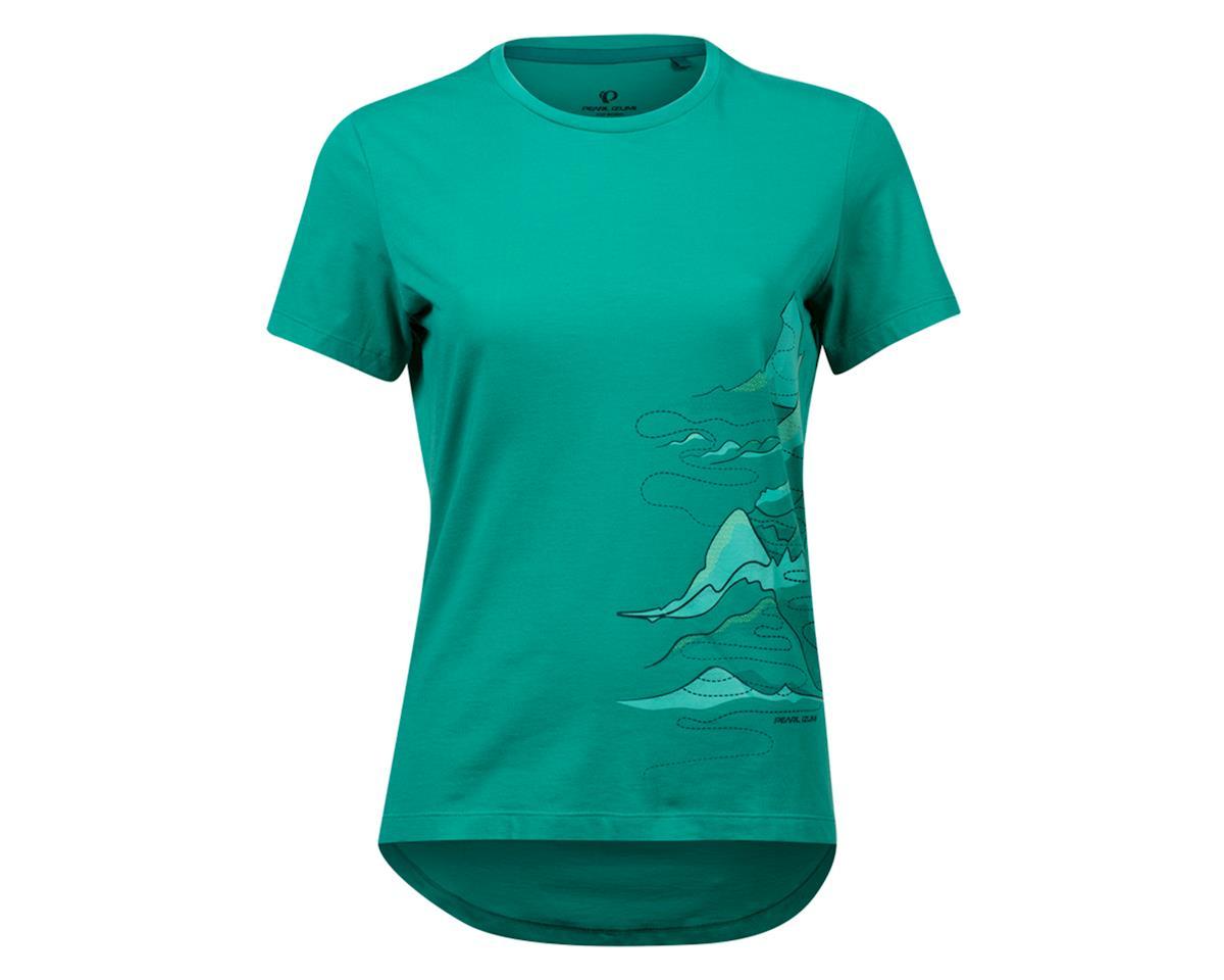 Pearl Izumi Women's Mesa T-Shirt (Malachite Mountain Route) (M)