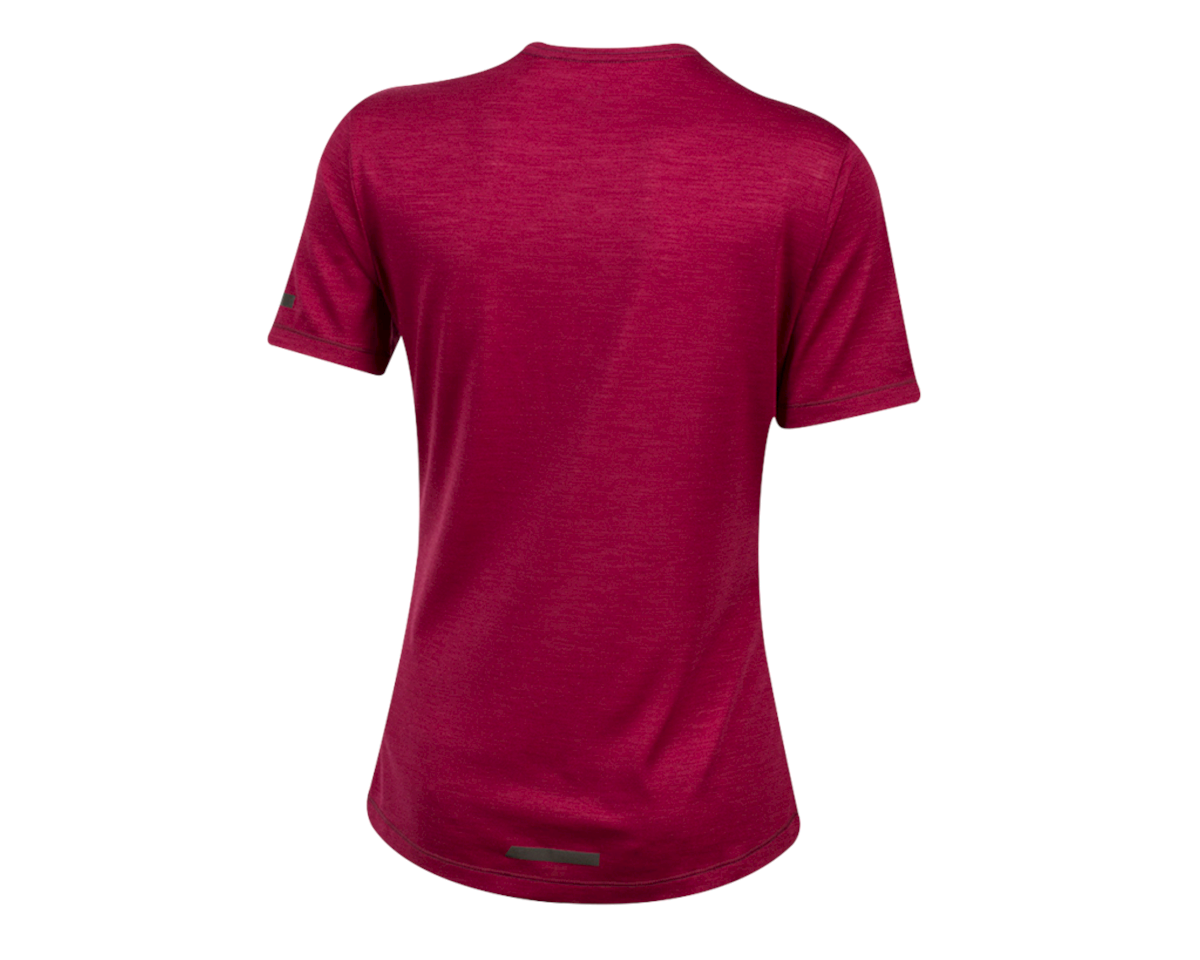 Image 2 for Pearl Izumi Women's BLVD Merino T Shirt (Beet Red) (S)