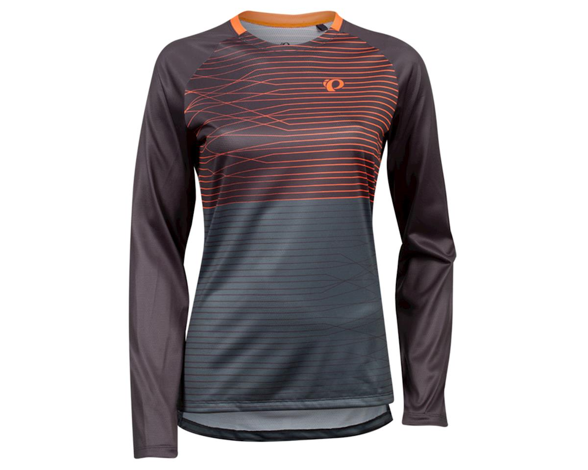 Image 1 for Pearl Izumi Women's Summit Long Sleeve Jersey (Phantom/ Fiery CLR Frequency) (L)