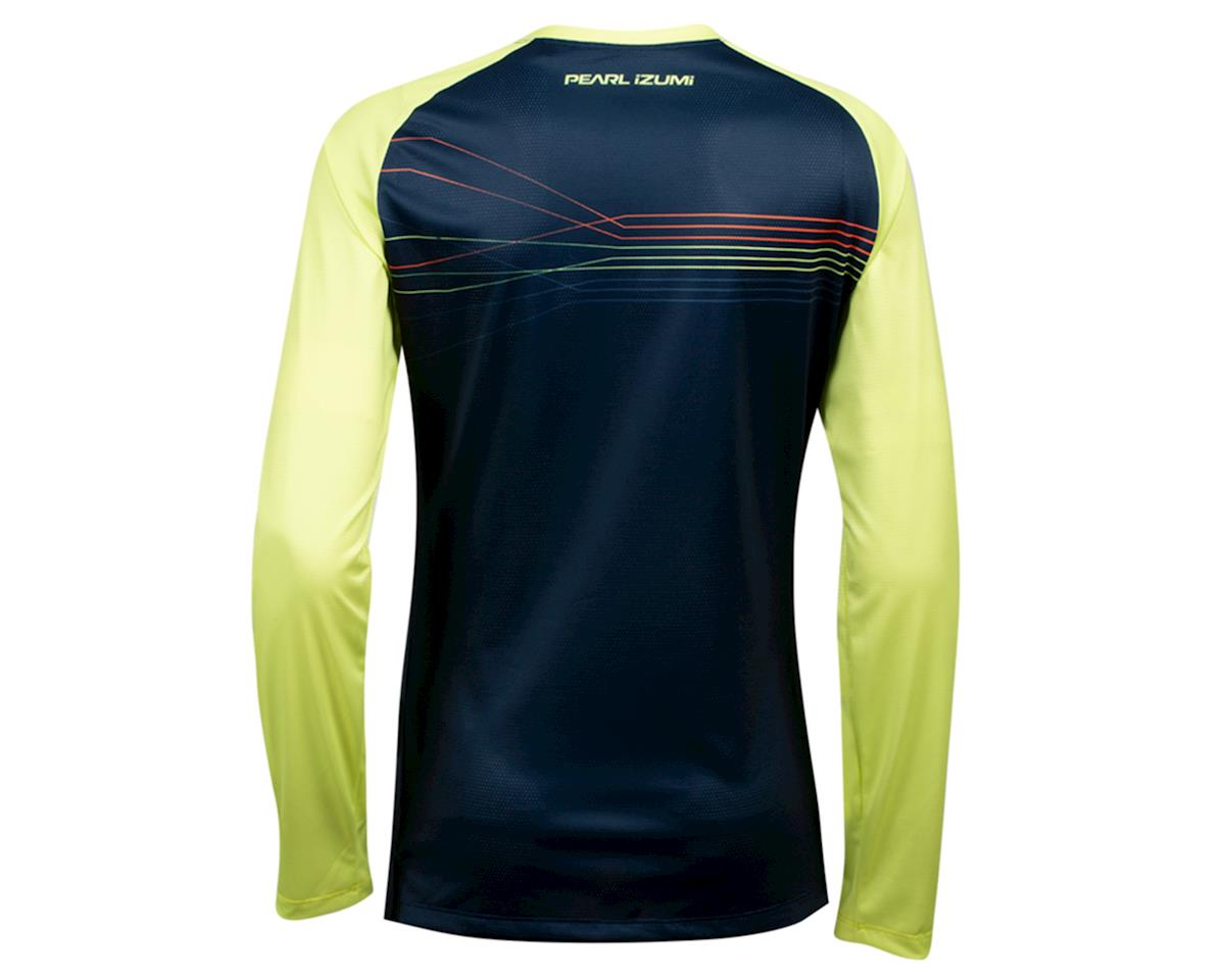 Image 2 for Pearl Izumi Women's Summit Long Sleeve Jersey (Sunny Lime/Navy Radian) (S)