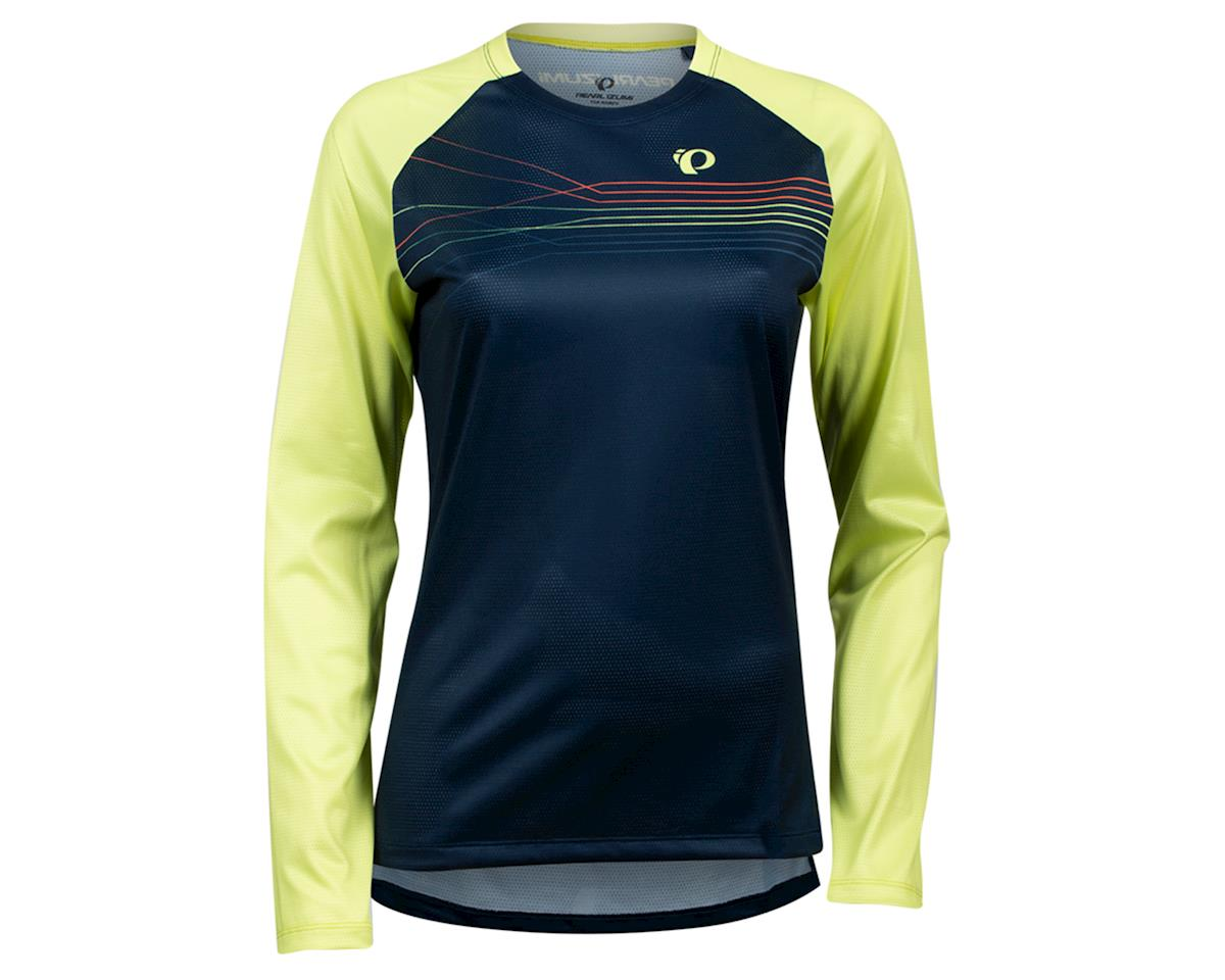 Image 1 for Pearl Izumi Women's Summit Long Sleeve Jersey (Sunny Lime/Navy Radian) (XL)