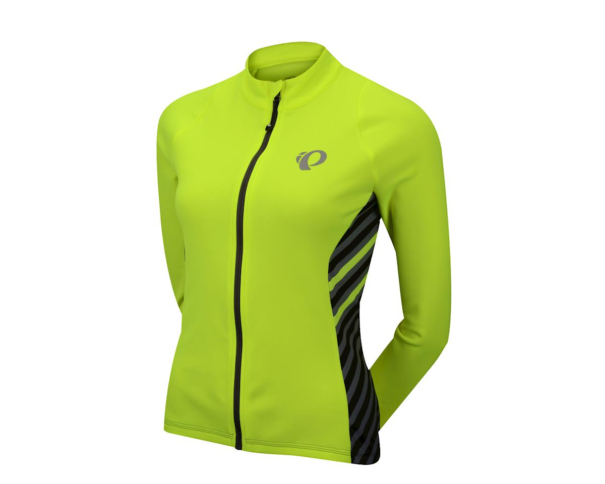 "Pearl Izumi Women's Select Pursuit Thermal Jersey (Screaming Yellow Stripe) (X-Large 40.5-42.5"")"