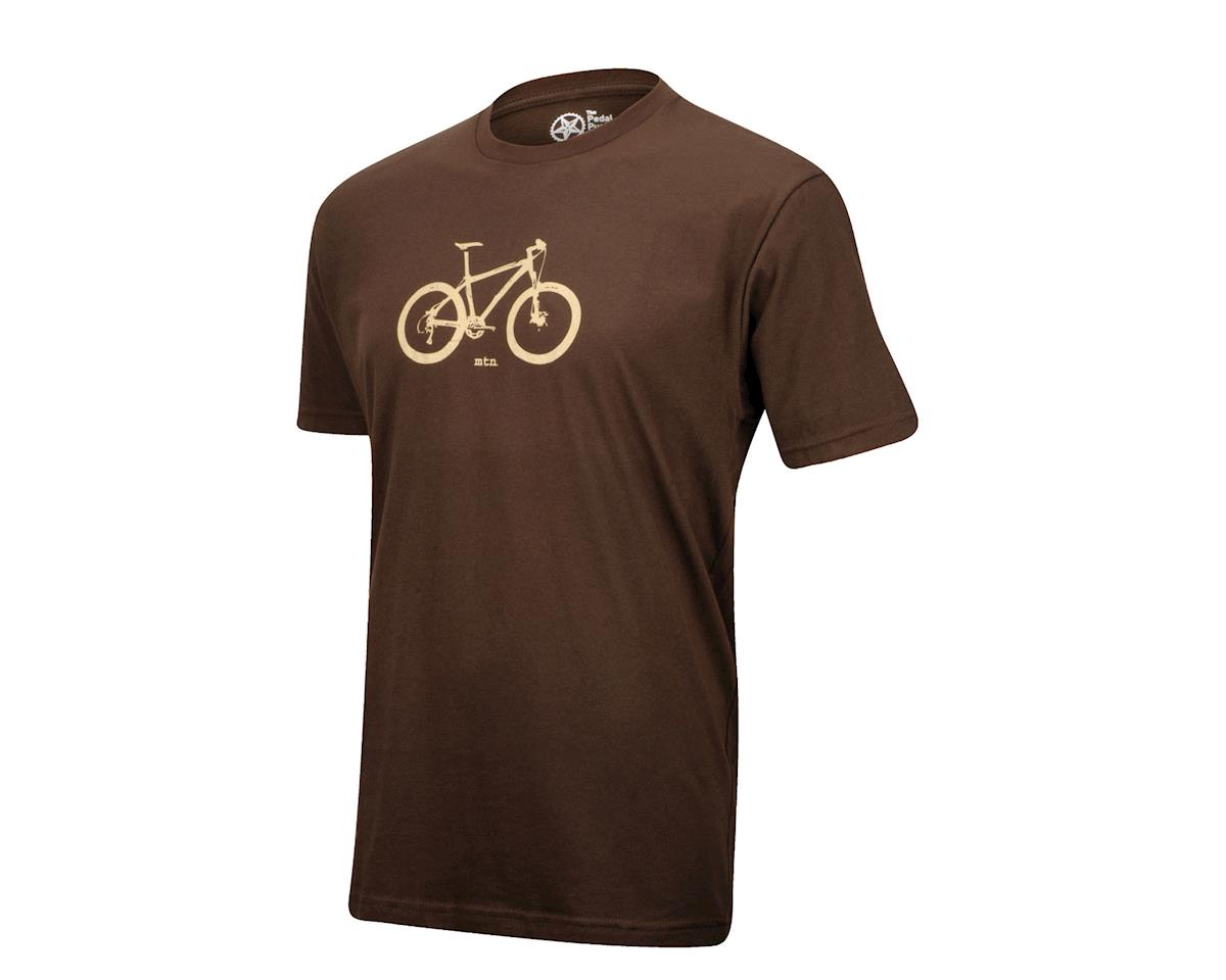 Pedal Pushers The Pedal Pusher Club Mountain T-Shirt (Brown)