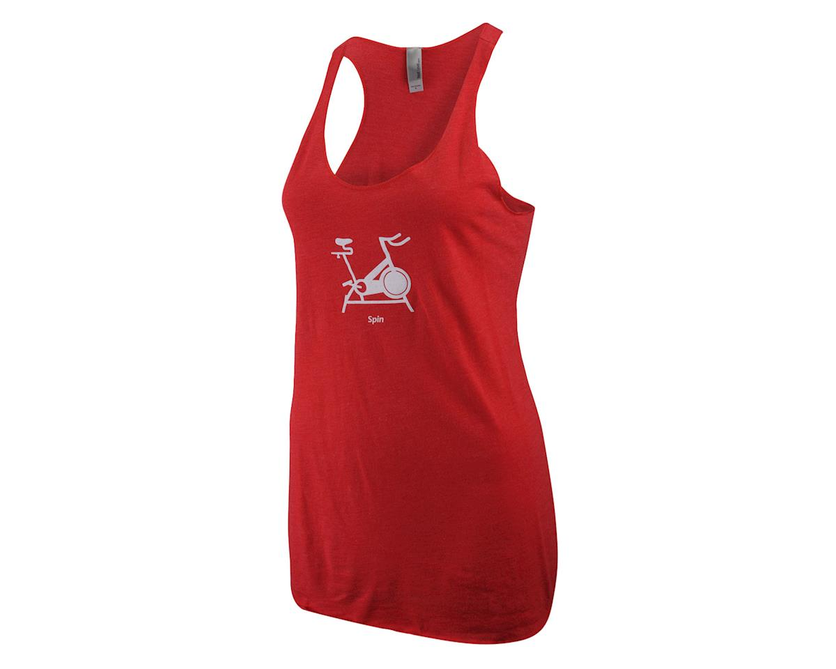 Pedal Pushers Club Women's Spin Tank (Coral)