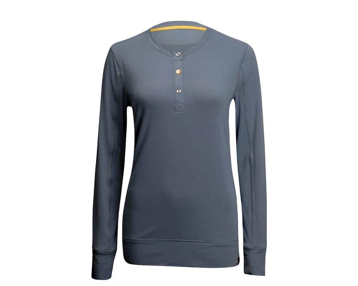 Performance Women's Tone Henley Long Sleeve Jersey (Grey)