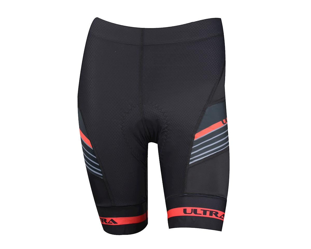 Performance Women's Ultra Shorts (Black/Red)