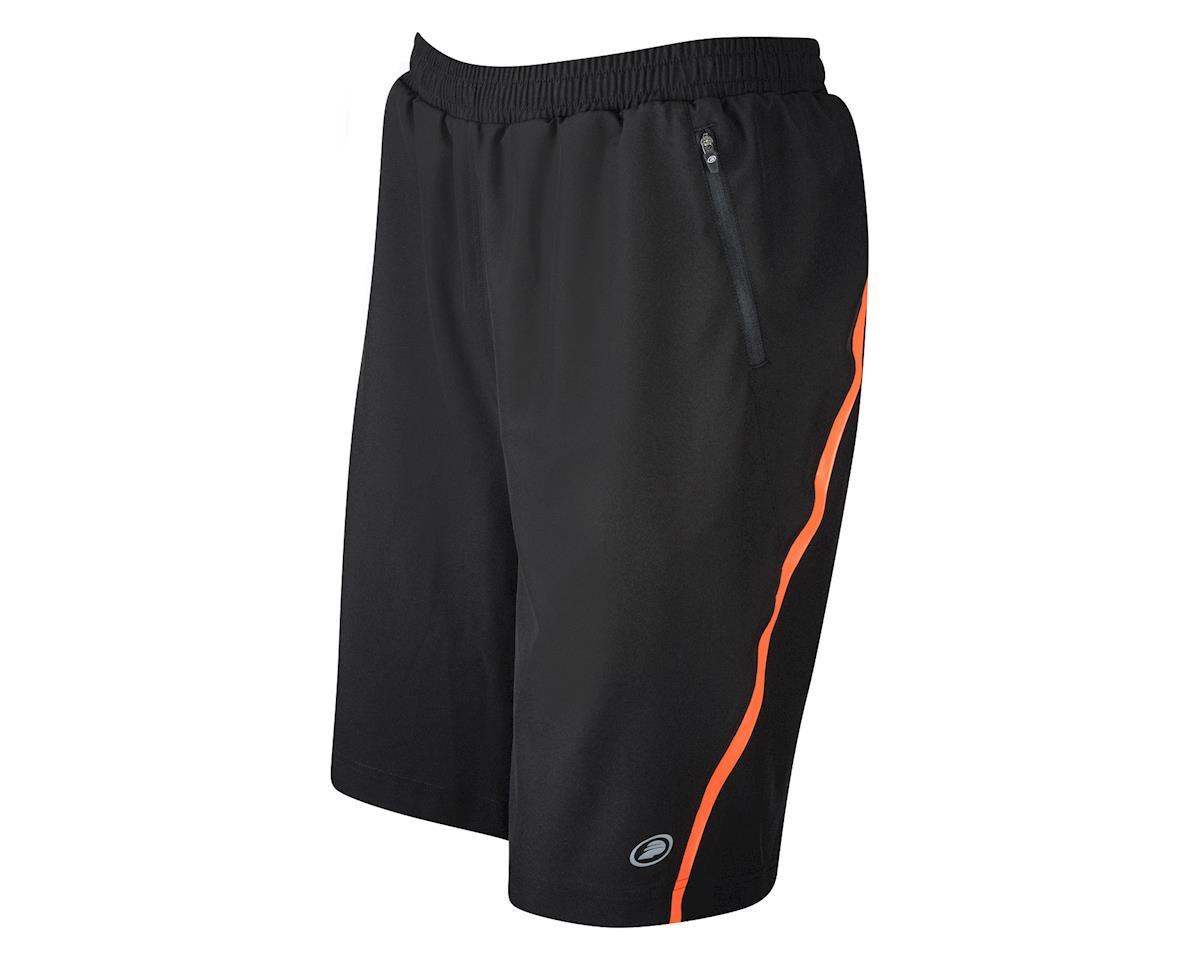 Performance Sport Shorts with Liner (Black/Orange)