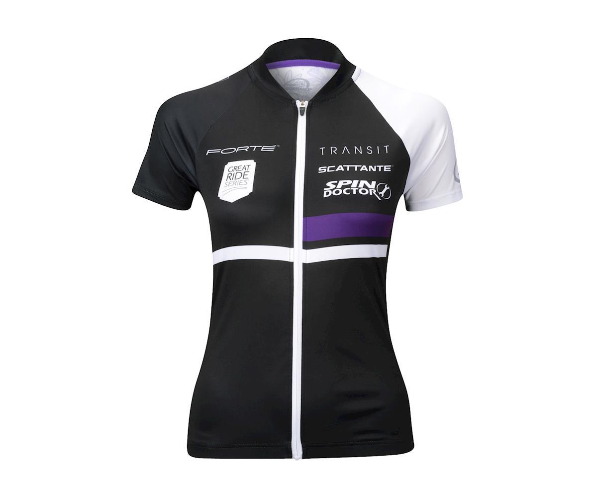 Performance Women's Elite Team Short Sleeve Jersey (Black/White)