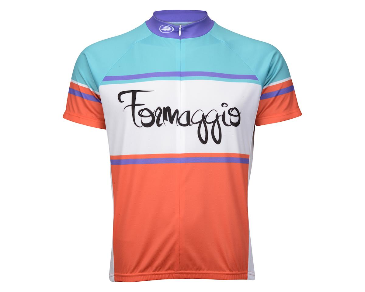 Performance Formaggio Short Sleeve Jersey (Red/White/Green)