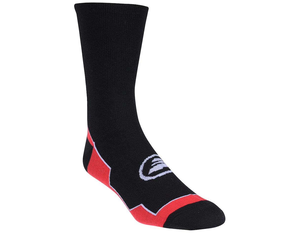 Image 1 for Performance Vertical Stripe Tall Socks (Black/Red/White)