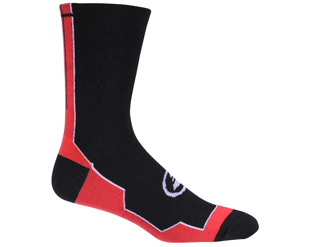 Image 3 for Performance Vertical Stripe Tall Socks (Black/Red/White)