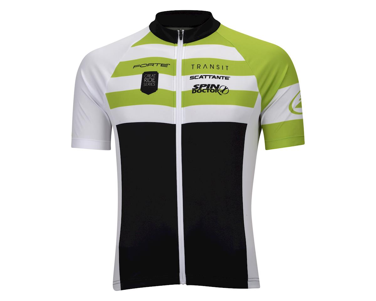 Performance Elite Team Short Sleeve Jersey - 2017 (White/Black/Green)