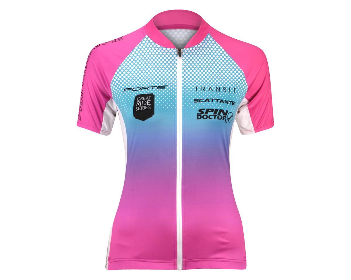 Performance Women's Elite Team 2 Short Sleeve Jersey - 2017 (White/Pink)